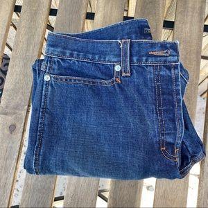 J crew size 10 raw hem 100% cotton crop jean blue